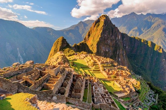 archaeological wonder Machu Picchu in Peru
